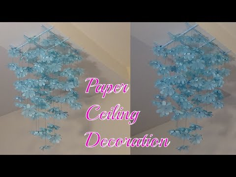 Paper Ceiling Decoration Tutorial : Handmade Decoration : Hanging Flowers