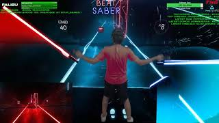Highlight: LVL Insane Hard Full Combo | Beat Saber VR! Mixed Reality | Day 2 - Ep1