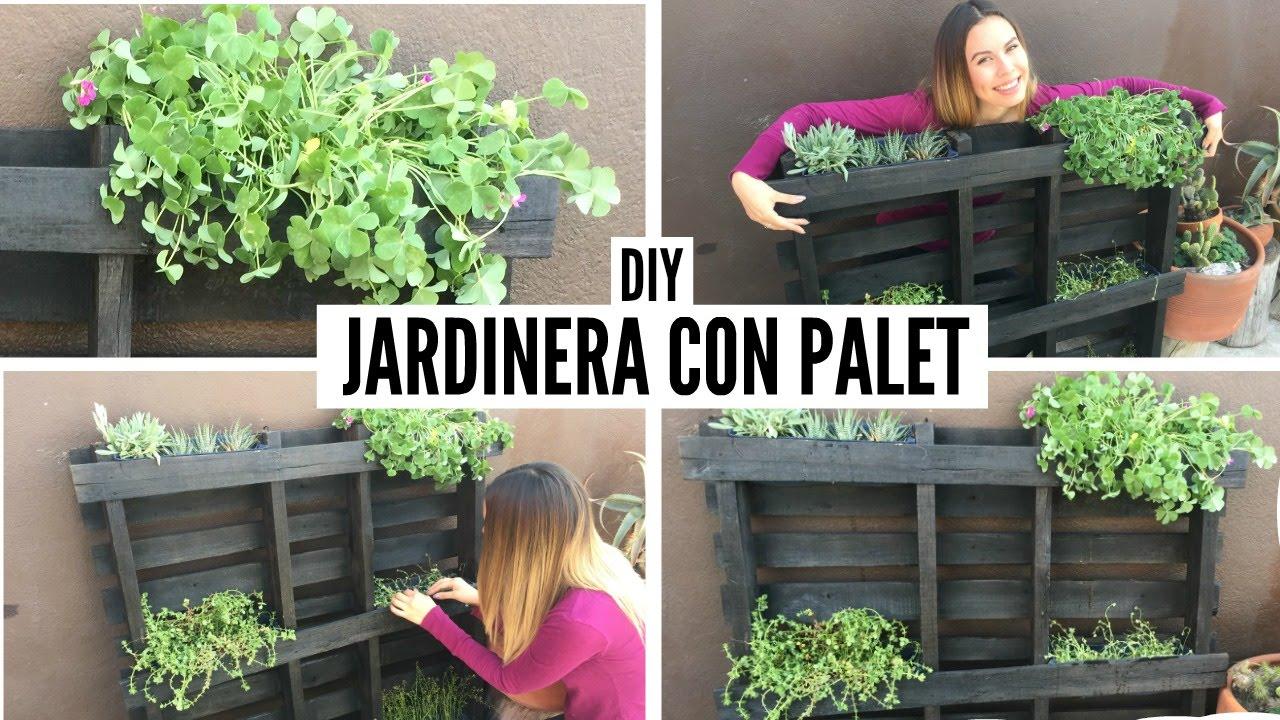 Diy jardinera con palet coco alternativo youtube - Jardineras con palets de madera ...