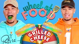 vuclip RAINBOW GRILLED CHEESE CHALLENGE?! Wheel of Food w/ Bell Twins