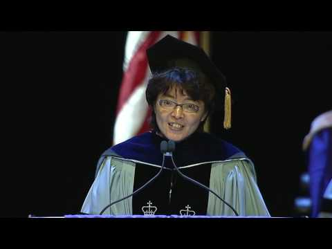 Convocation 2017:  Dr. Wen-Jui Han Presents the PhD Graduates