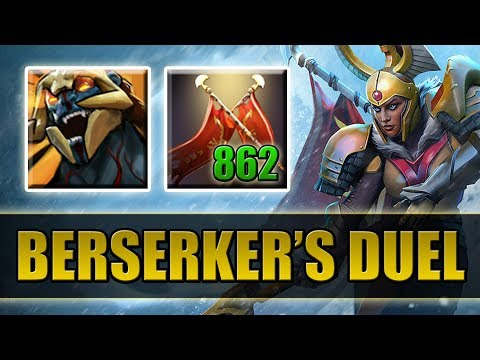 1k Damage Right Click with Max Attack Speed [Berserker's Blood + Duel] Dota 2 Ability Draft