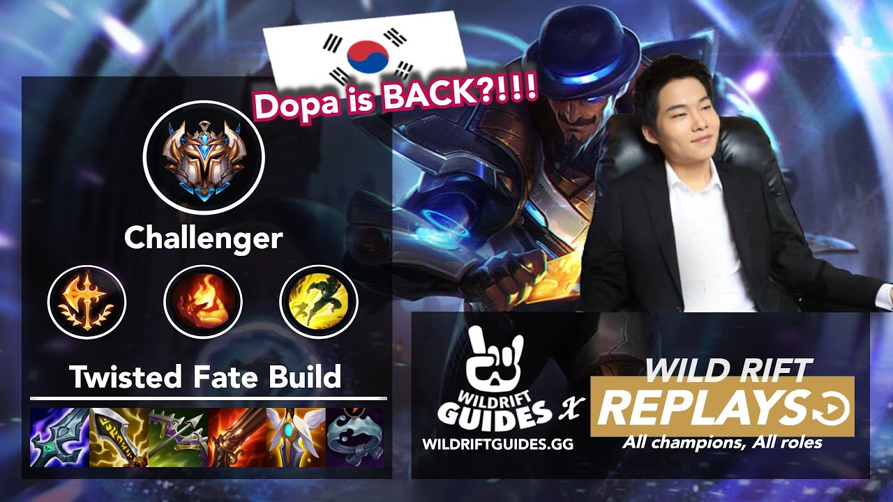 Download Wild Rift Twisted Fate Mid   Dopa Rank 1 Challenger Ranked Gameplay