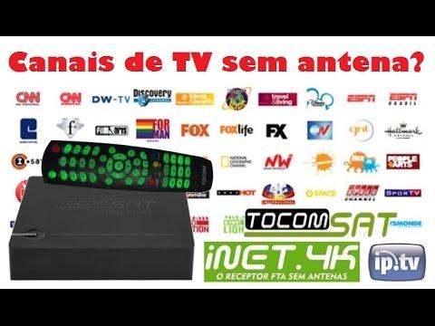 Canais De Tv Fechada Sem Antena Ou Mensalidade Tocomsat Inet 4k