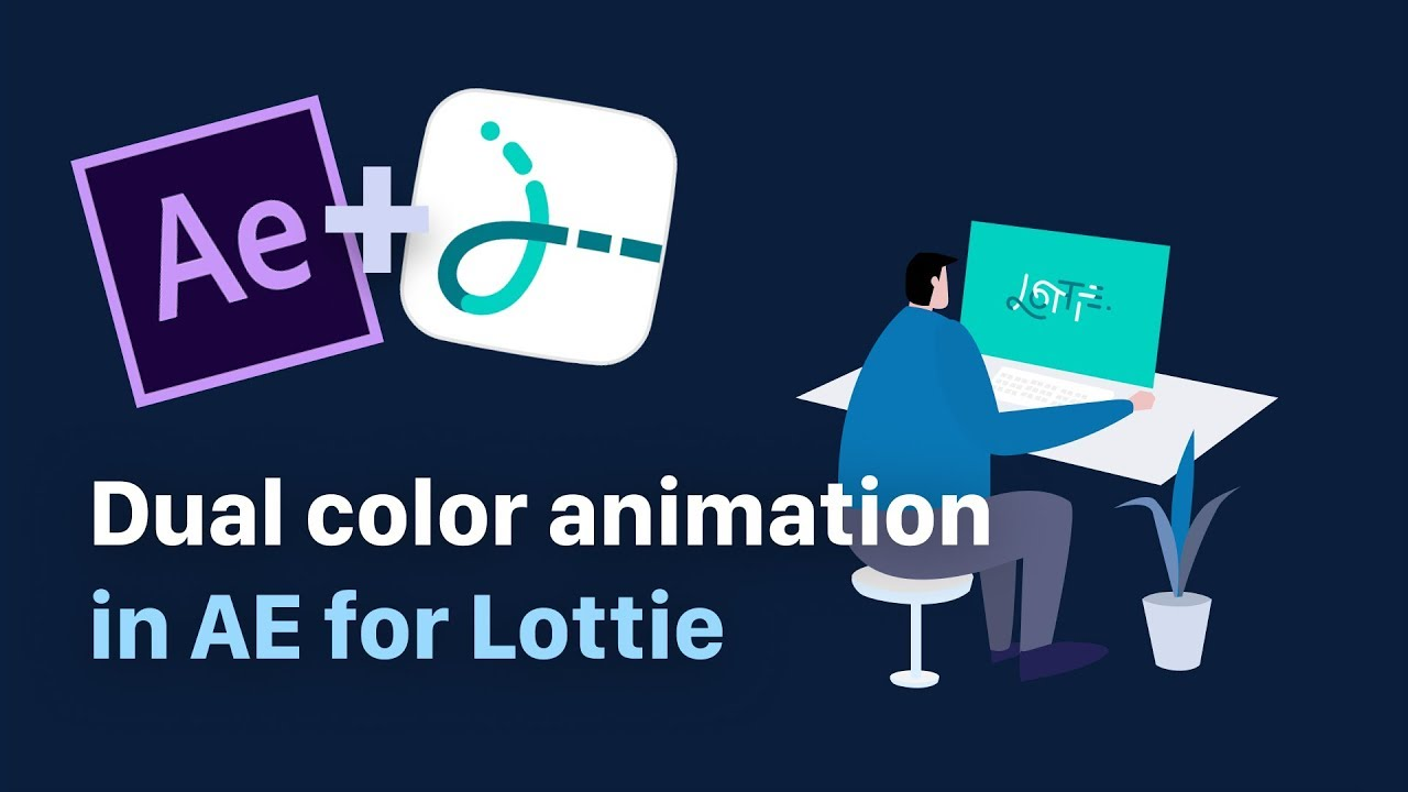 Dual Color animation in After Effects for Lottie