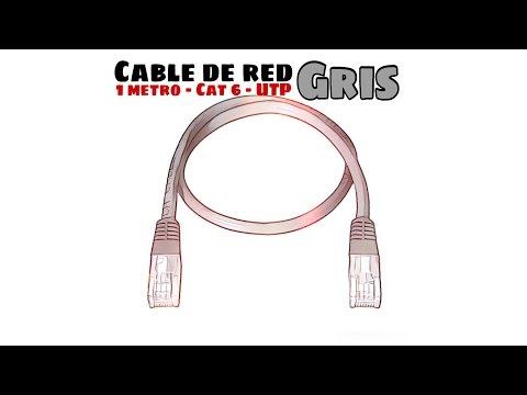 Video de Cable de red UTP CAT6 1 M Gris