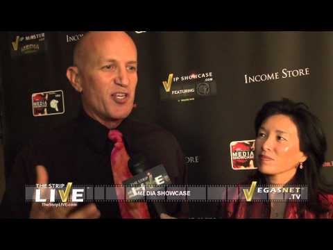 ASHER MILGROM & ALICE PIEN  SHOWCASED ON THE STRIP LIVE FOR VEGASNET TV (2/4)