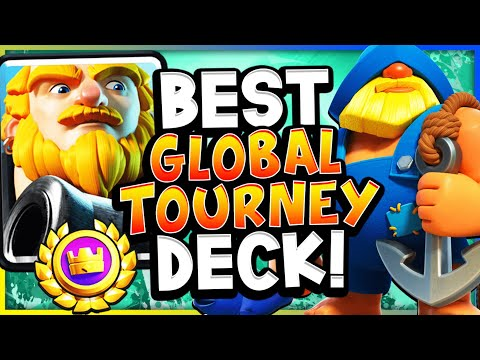 GETTING ALL REWARDS with BEST GLOBAL TOURNEY DECK! - CLASH ROYALE