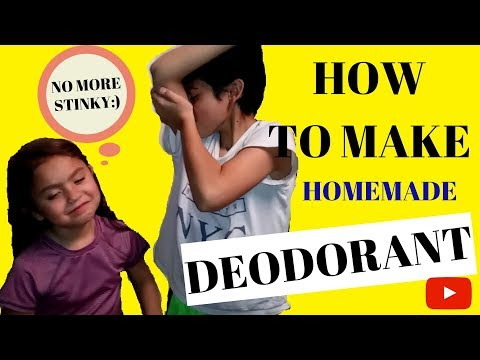 HOW TO MAKE NATURAL DEODORANT/ DIY NATURAL CHILDREN'S DEODORANT
