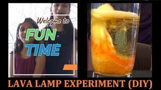 LAVA LAMP | KIDS FRIENDLY DIY EXPERIMENT