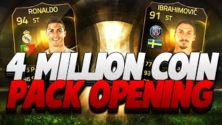 HAZARD IN A PACK!! FIFA 15 4 MILLION COIN PACK OPENING 2 IFS & 88 RATED PULLS