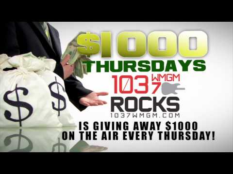 WMGM 103.7 $1000 Thursdays