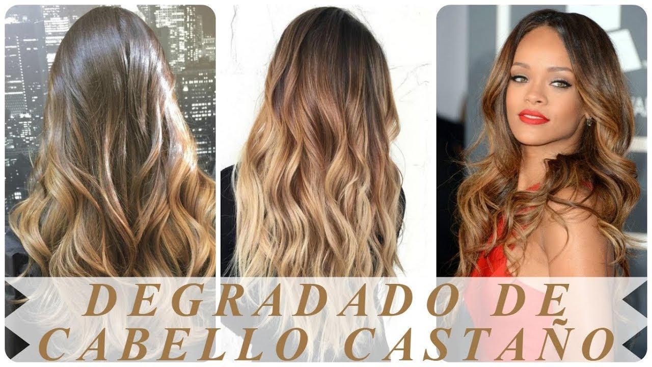 Nuevos Peinados Degradado De Cabello Castano Oscuro Youtube