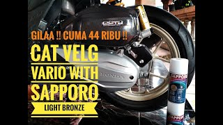 Modif Vario : Cat Velg Vario dengan Sapporo Light Bronze/ Gold Tiramisu.