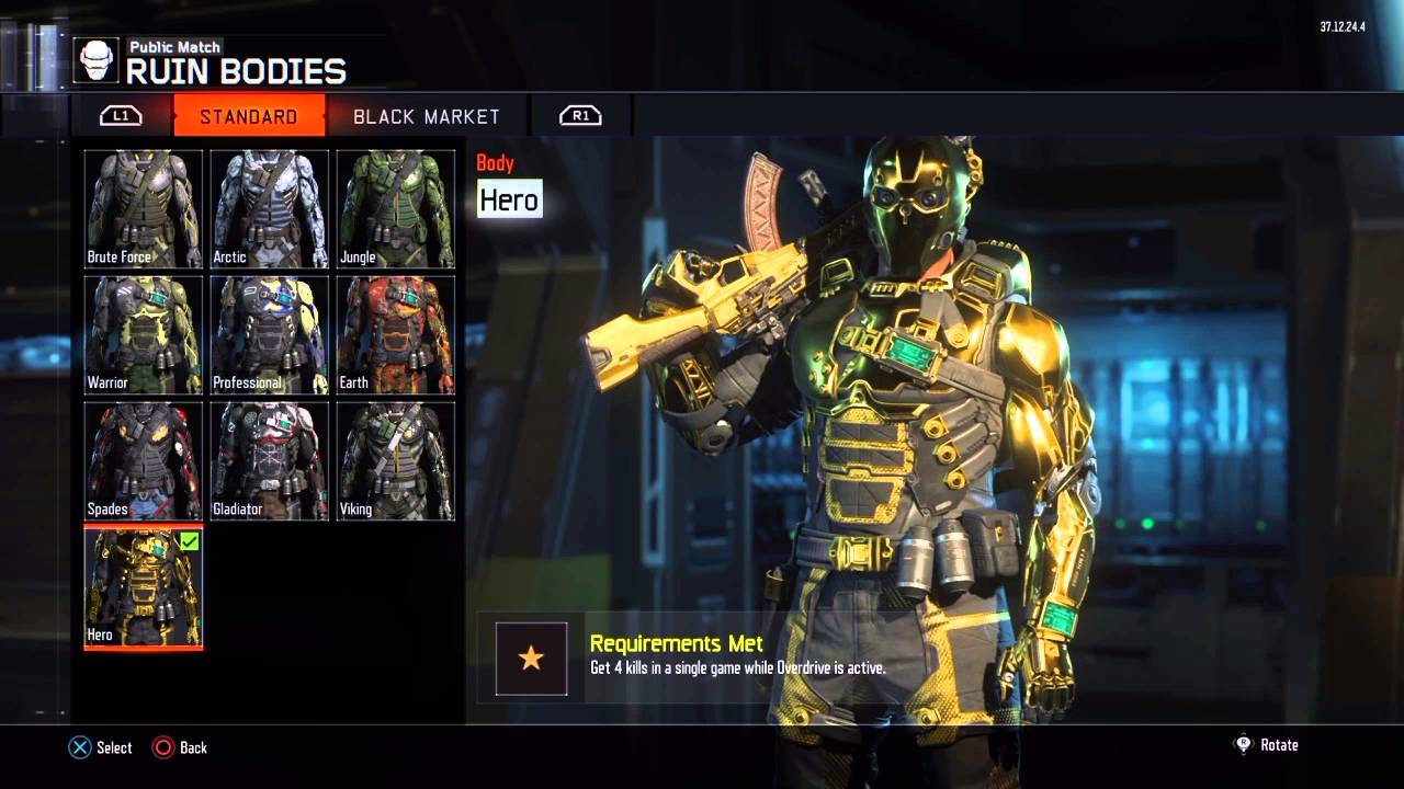 Black Ops 3 All Hero Outfits and How To Get (English) - YouTube