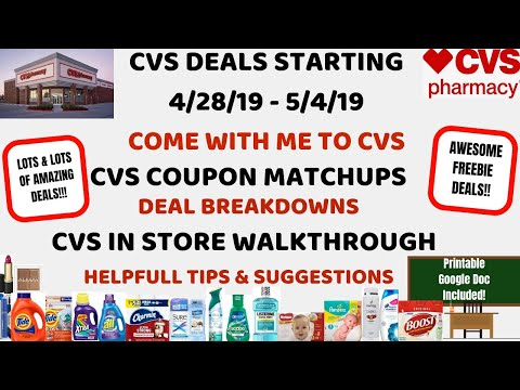 FREE & CHEAP CVS DEALS STARTING 4/28/19~CVS IN STORE WALKTHROUGH COUPON MATCHUPS~COME WITH ME~WOW 😮