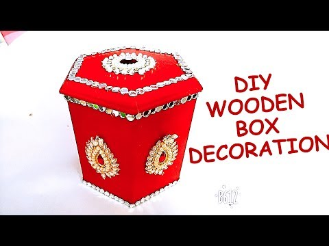 DIY Wooden Box Decoration idea for Wedding and Festivals    Wedding Gift Ideas