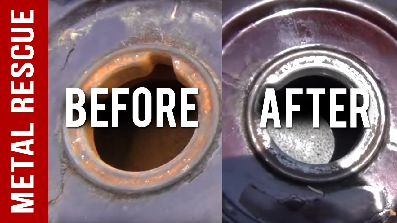 Remove Rust From A Motorcycle Gas Tank