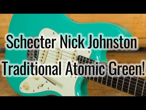 An introduction to the Schecter Nick Johnston Traditional Atomic Green