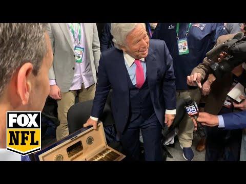 Robert Kraft gifts Patriots 50-year-old cigars | FOX NFL