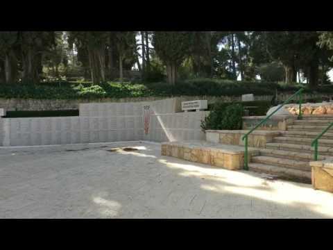 Mount Herzl cemetery overlooking Jerusalem.