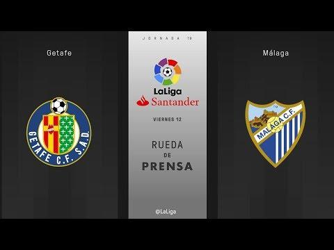 Rueda de prensa Getafe vs Málaga