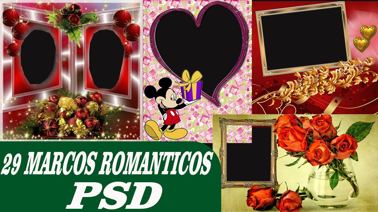 29 Pack de Marcos Románticos - Plantillas psd para photoshop - YouTube