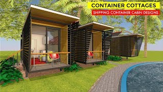Off-Grid Container Cottages | 20 Foot Shipping Container Cabin Design + Floor Plans- CABINTAINER 160