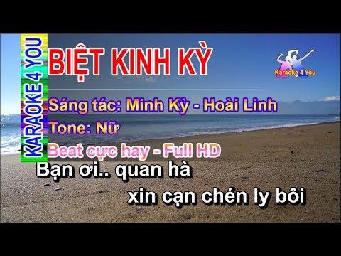 #Karaoke | BIỆT KINH KỲ ✔️| Tone Nữ | Full HD | Beat cực hay | #bkk #karaoke4you #k4y