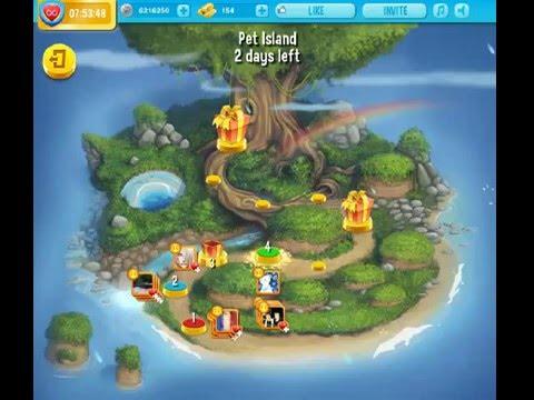 Pet rescue saga pet island 26th april level 4 youtube for Pet island level 4