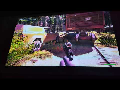Xiaomi Lite DLP Projector PS4 Pro Farcry 5 Game test