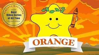 COLORS: ORANGE Anaranjado  ★ English French Spanish ★ Best Early Learning Videos & Songs for Kids