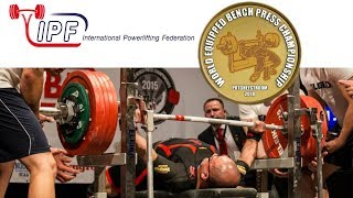 Open Men, 120-120+ kg - World Equipped Bench Press Championships 2018
