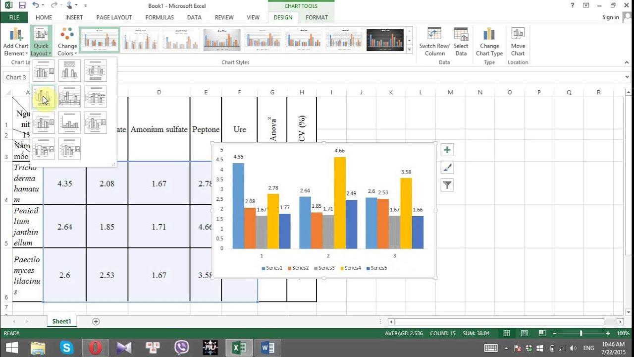 Cách đặt số liệu trên đỉnh cột biểu đồ