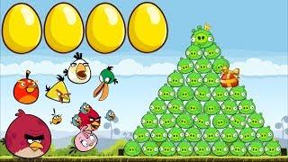 Angry Birds - BIRDS VS PIGGIES GOLDEN EGGS (Walkthrough)
