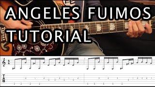 como tocar angeles fuimos de dragon ball z tutorial guitarra acordes hd