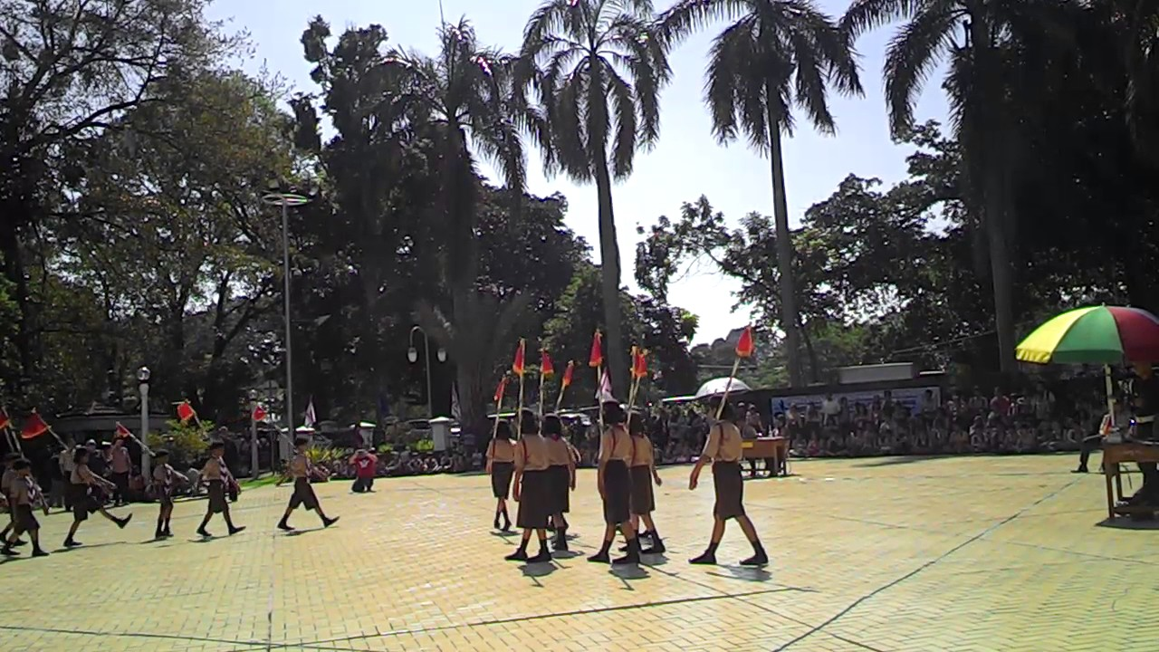 Latihan Keterampilan Baris Berbaris (LKBB) Pramuka di Balai Kota Bogor  Tahun 2014