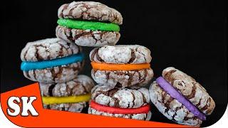 Chocolate Crinkle Rainbow Cookies - Rainbow Series 03