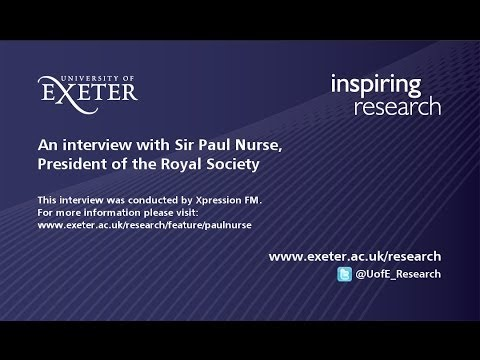 Sir Paul Nurse - interview with Xpression FM