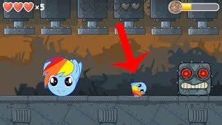 Red ball 4 rainbow dash ball complete all levels from 31 - 45 full walkthrough