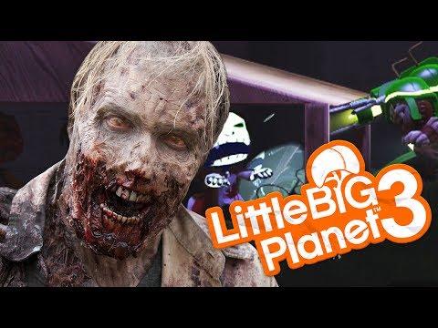 LittleBigPlanet 3 - EVIL ZOMBIE SURVIVAL - Little Big Planet 3 Multiplayer