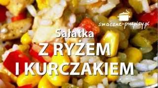 Sałatka z ryżem i kurczakiem - smaczne-przepisy.pl