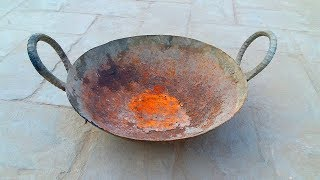 Restoration of Ancient and Rusted Pan with Restoration Tools
