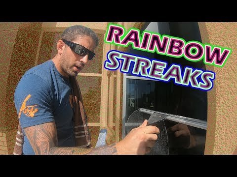 TIPS ON HOW TO STOP RAINBOW STREAKS | WINDOW CLEANING