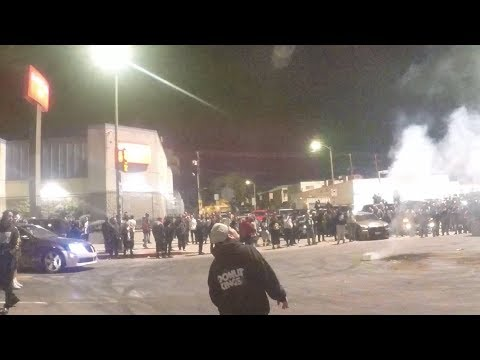 Unmarked LAPD at Sideshow Takeover in South LA