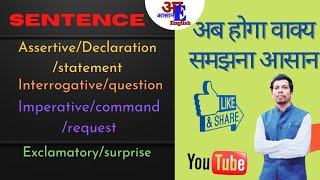 Sentence and its kinds । वाक्य के प्रकार  । Assertive,  Interrogative, Imperative etc. screenshot 3