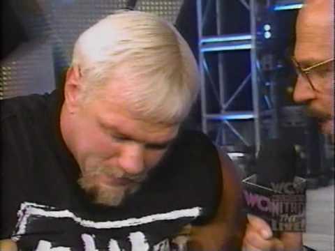 (05.04.1998) WCW Monday Nitro Pt. 8 - Mean Gene interviews Rick Steiner. Scott Steiner Interrupts