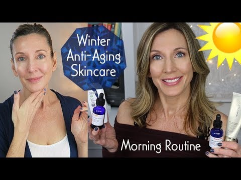 morning-winter-anti-aging-skincare-routine-~-over-50!