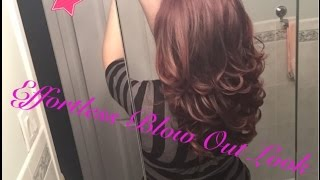 How to: FAKE AN EASY BLOWOUT (Using Velcro Rollers)