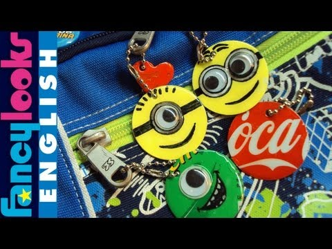 Backpack charms from soda cans